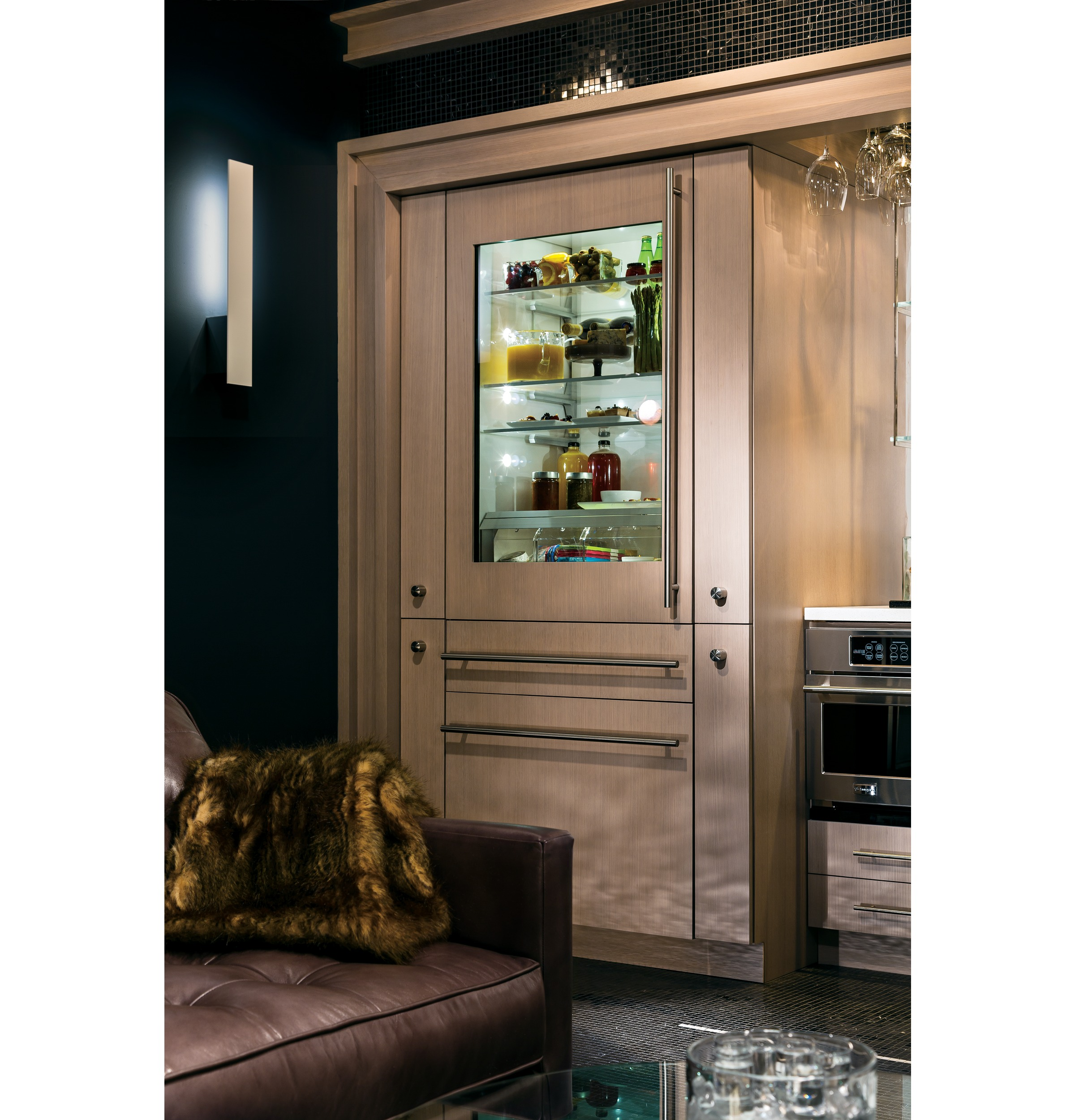 Monogram 30 integrated glass door refrigerator with convertible 1 of 11 planetlyrics Image collections