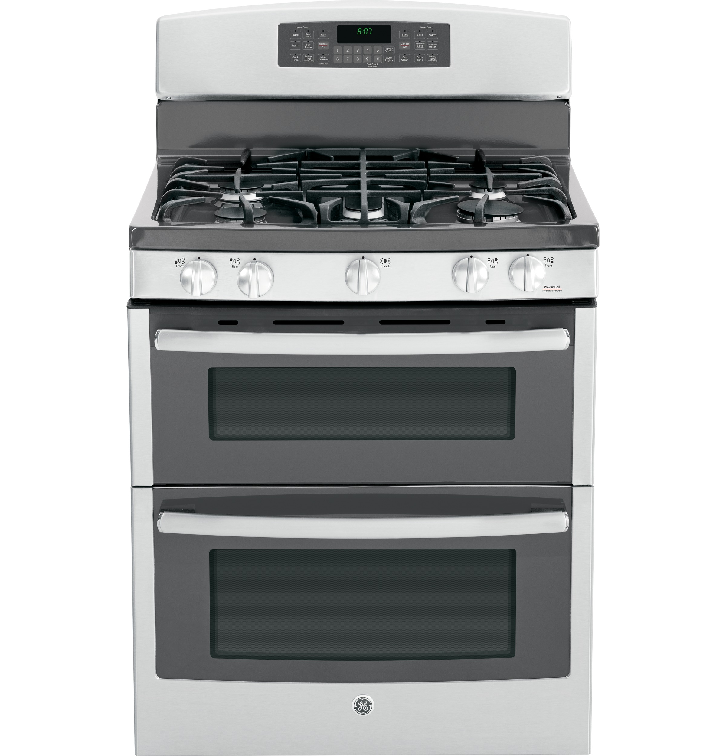 ge 30 free standing gas double oven range with convection jgb870sefss ge appliances. Black Bedroom Furniture Sets. Home Design Ideas