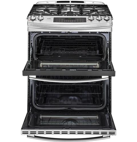 Ge Profile Series 30 Slide In Front Control Double Oven Gas Range