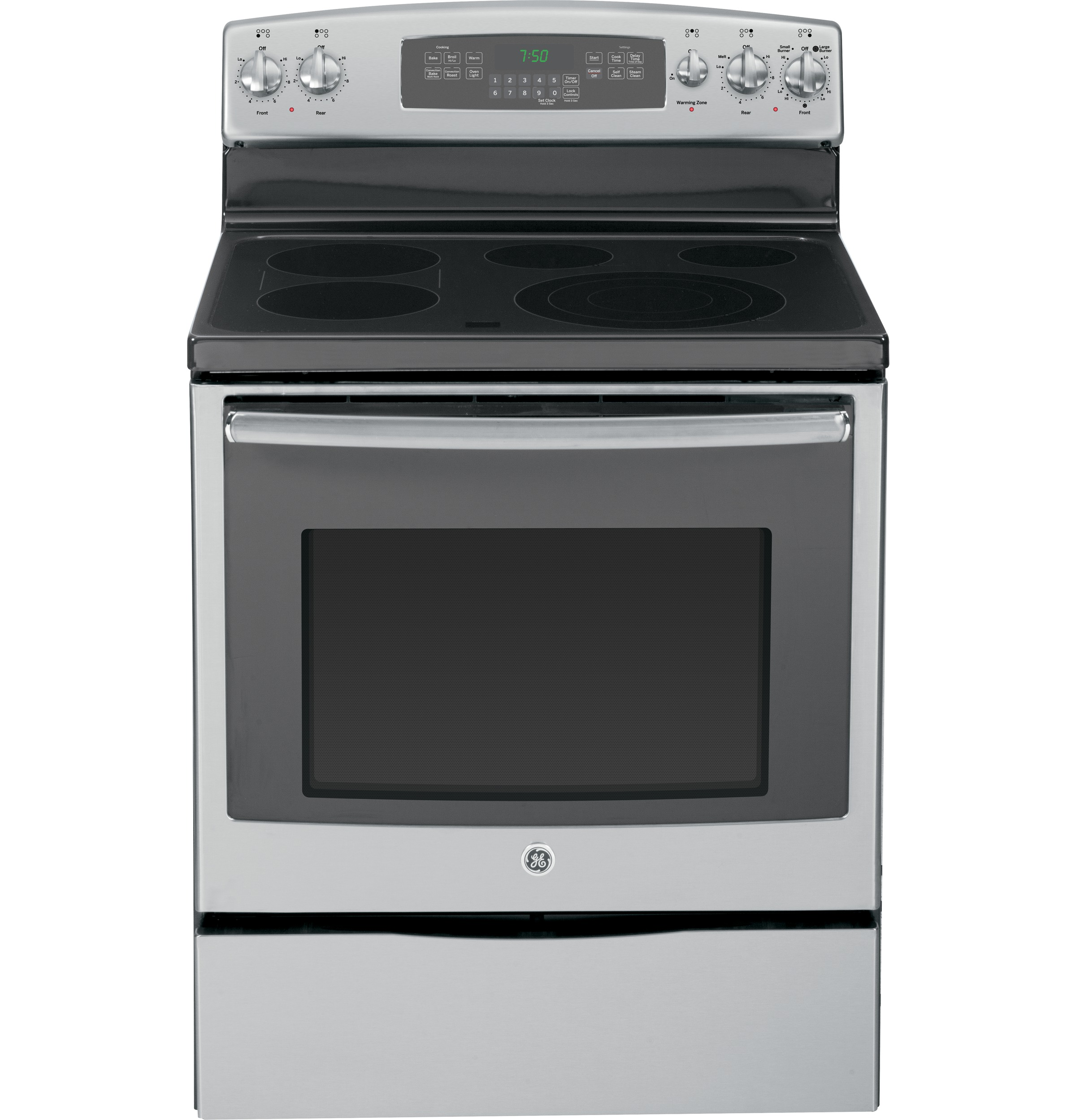 Electric Convection Oven ~ Ge quot free standing electric convection range