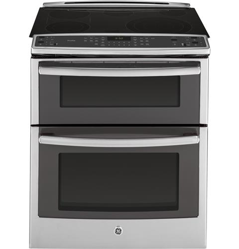 Ge Profile Series 30 Slide In Front Control Double Oven Electric Convection Range