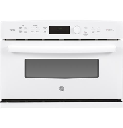 GE Profile™ Series 27 in. Single Wall Oven Advantium® Technology– Model #: PSB9100DFWW