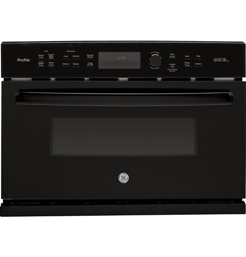GE Profile™ Series 27 in. Single Wall Oven Advantium® Technology– Model #: PSB9100DFBB