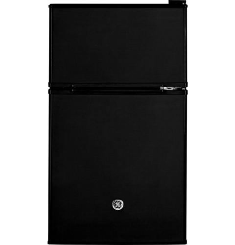 GE® Double-Door Compact Refrigerator– Model #: GDE03GGKBB