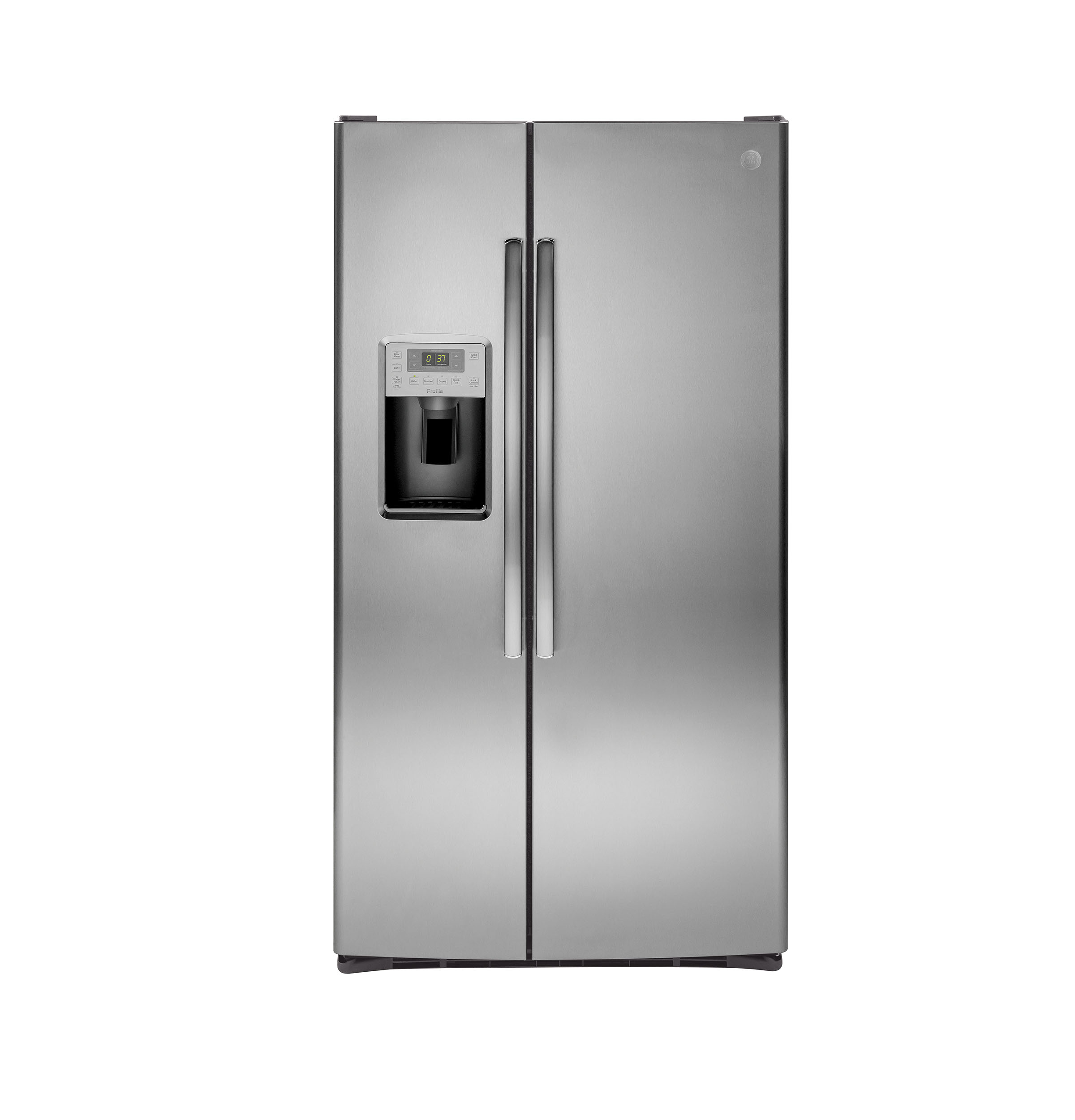 Ge 30 inch side by side white refrigerator - Product Image