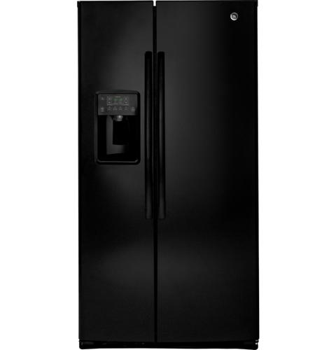 GE® ENERGY STAR® 25.3 Cu. Ft. Side-By-Side Refrigerator– Model #: GSE25HGHBB