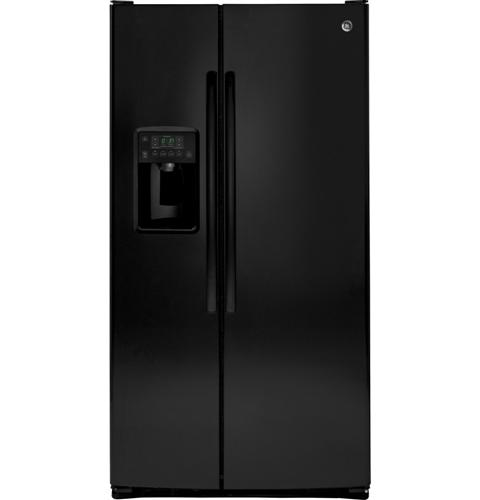 GE® ENERGY STAR® 25.4 Cu. Ft. Side-By-Side Refrigerator– Model #: GSE25GGHBB