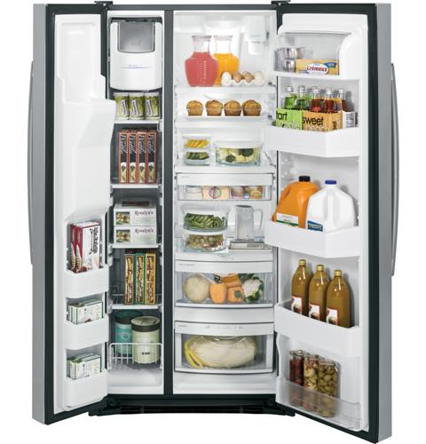 GE® 23.2 Cu. Ft. Side-By-Side Refrigerator | GSS23HSHSS | GE ... Ge Refrigerator Schematic Diagram Model Gts Kbsercc on