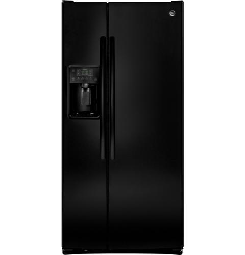GE® 23.2 Cu. Ft. Side-By-Side Refrigerator– Model #: GSS23HGHBB