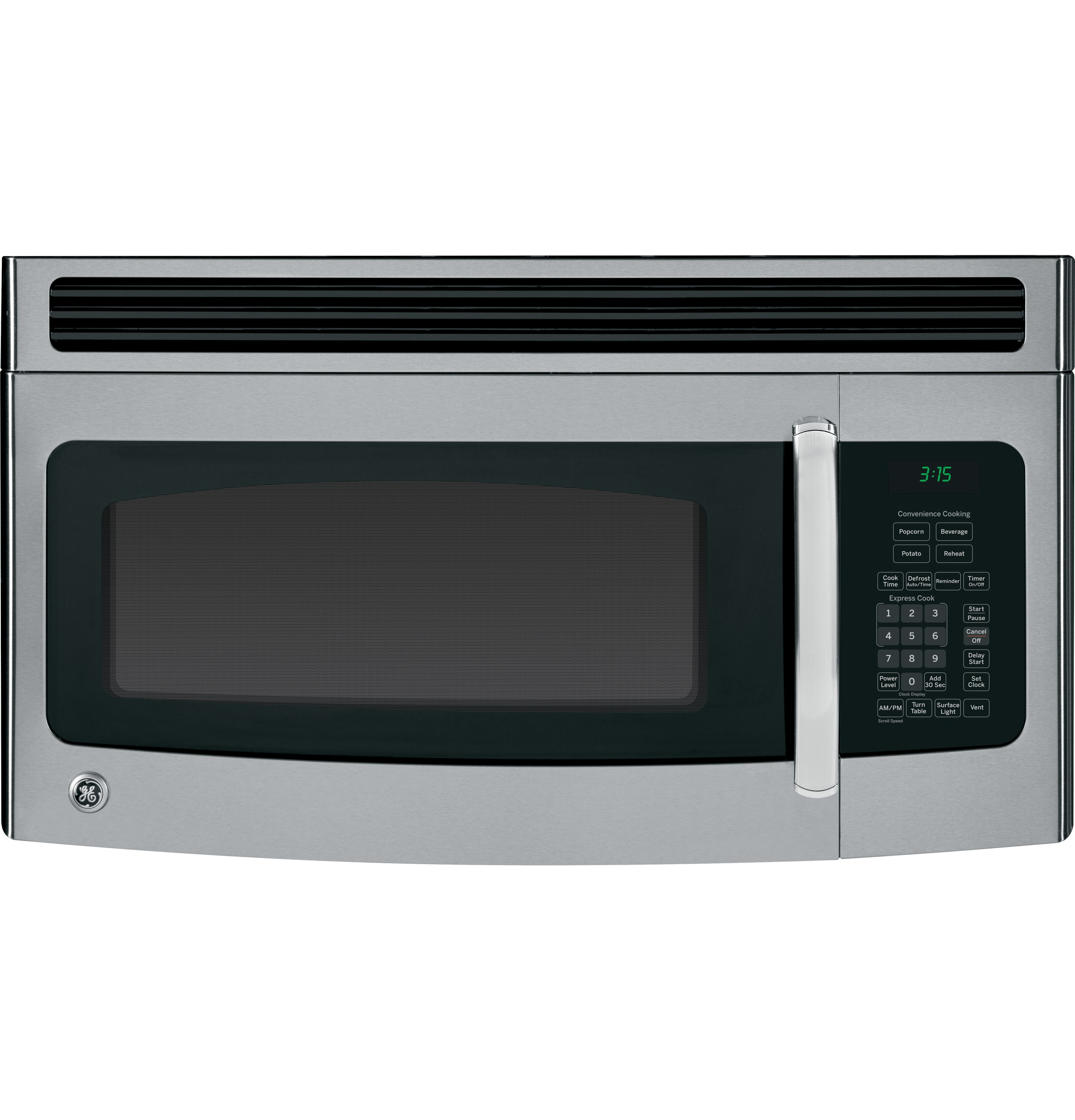 Ge 1 5 Cu Ft Over The Range Microwave Oven With Recirculating