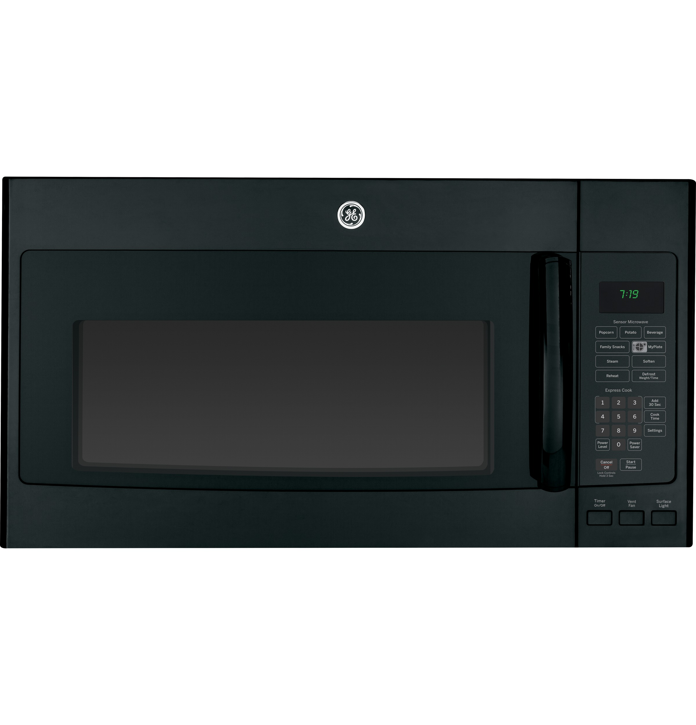 ge® series 1 9 cu ft over the range sensor microwave oven product image