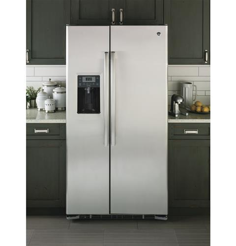 GE Profile™ Series 23.3 Cu. Ft. Counter-Depth Side-by-Side ... on