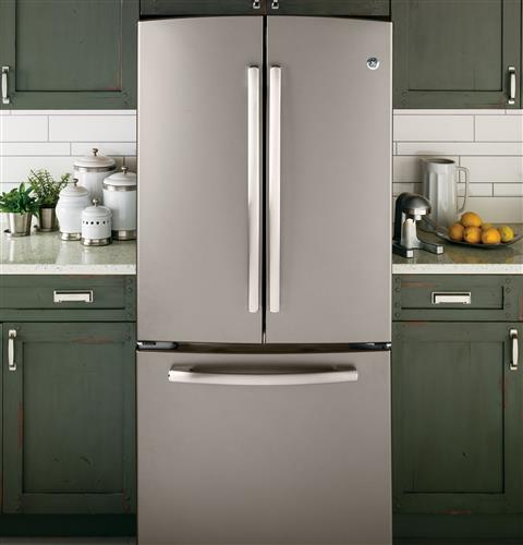 Ge 227 Cu Ft French Door Refrigerator Gns23gmhes Ge Appliances