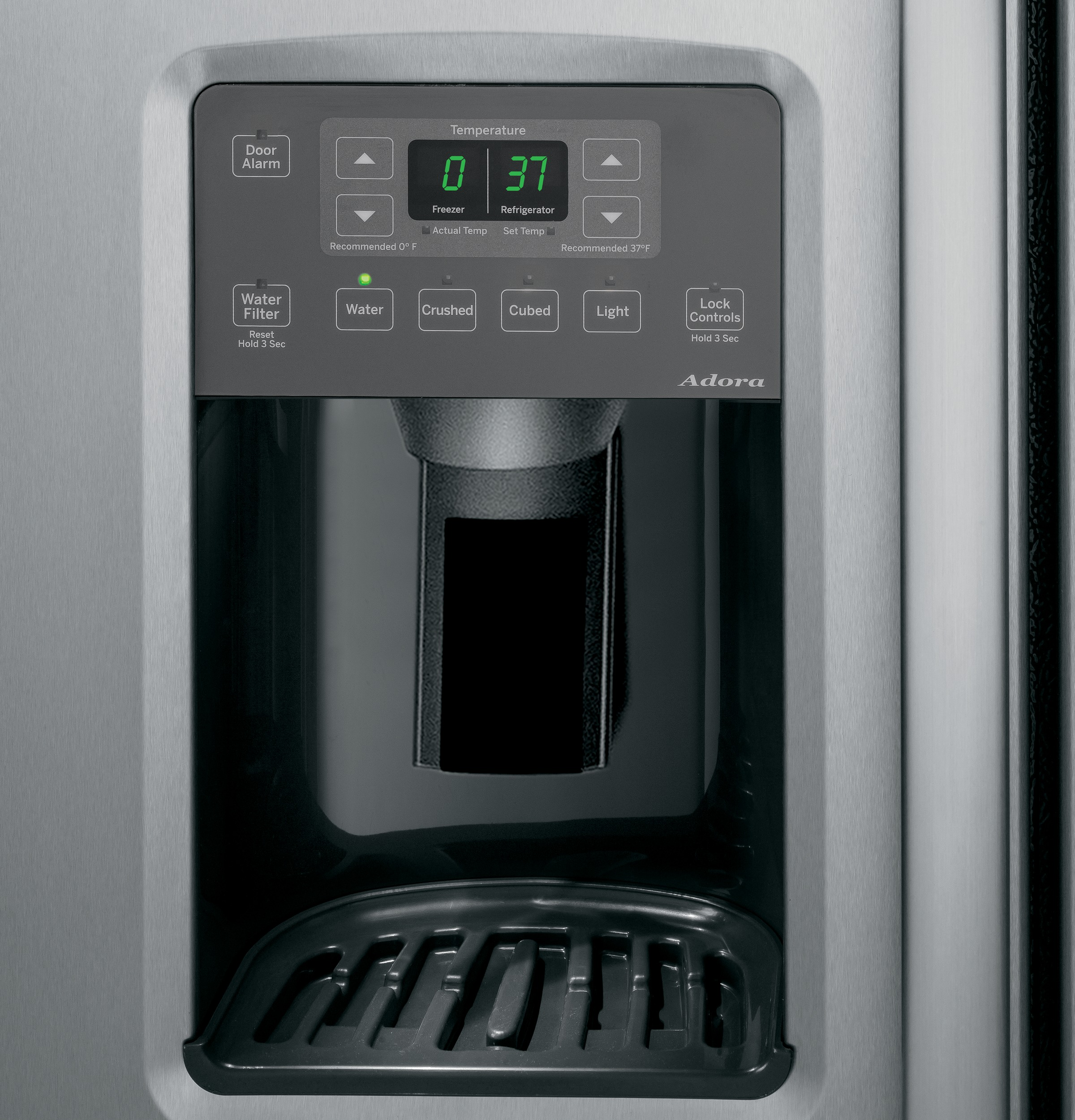 Adora Series By GE® ENERGY STAR® 25.3 Cu. Ft. Side-By-Side