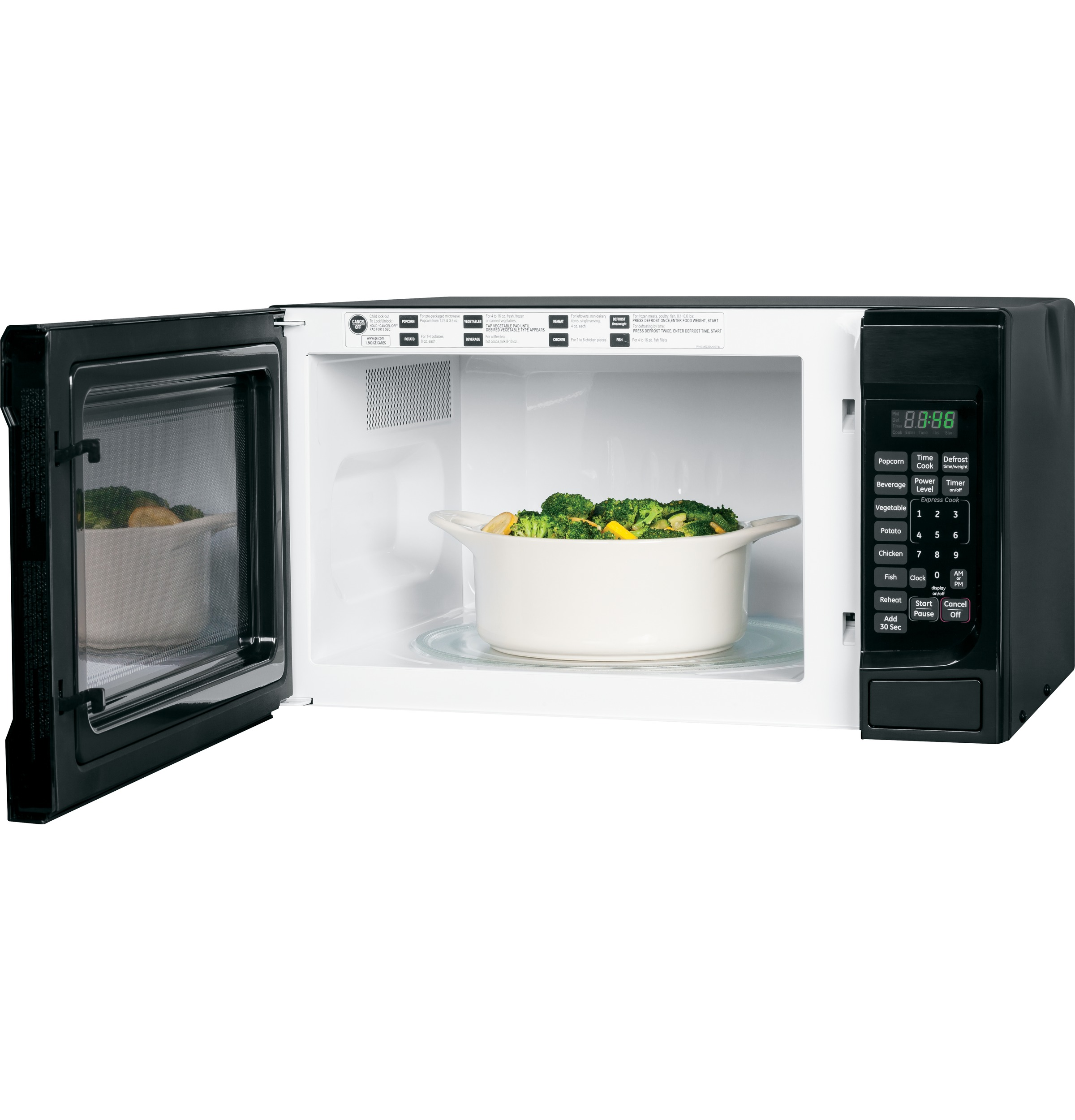 Ge 174 1 4 Cu Ft Countertop Microwave Oven Jes1460dsbb