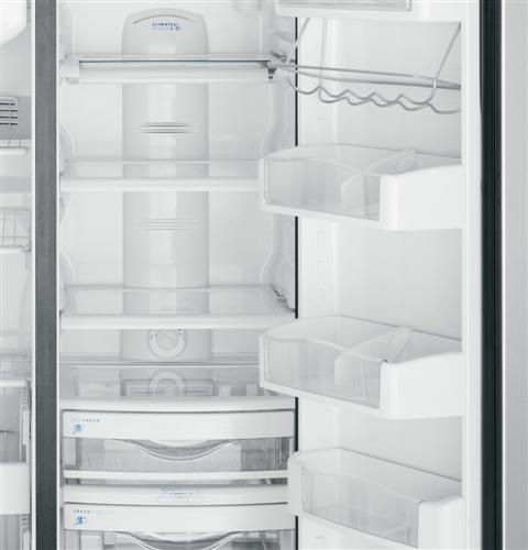 Ge Caf 233 Series 24 6 Cu Ft Counter Depth Side By Side