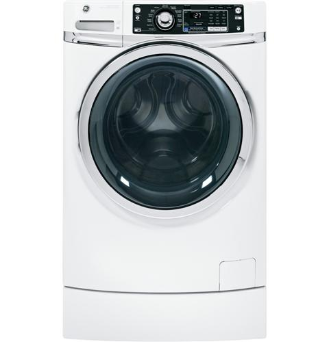 GE® ENERGY STAR® 4.5 DOE cu. ft. capacity RightHeight™ Design Front Load washer– Model #: GFWR2700HWW