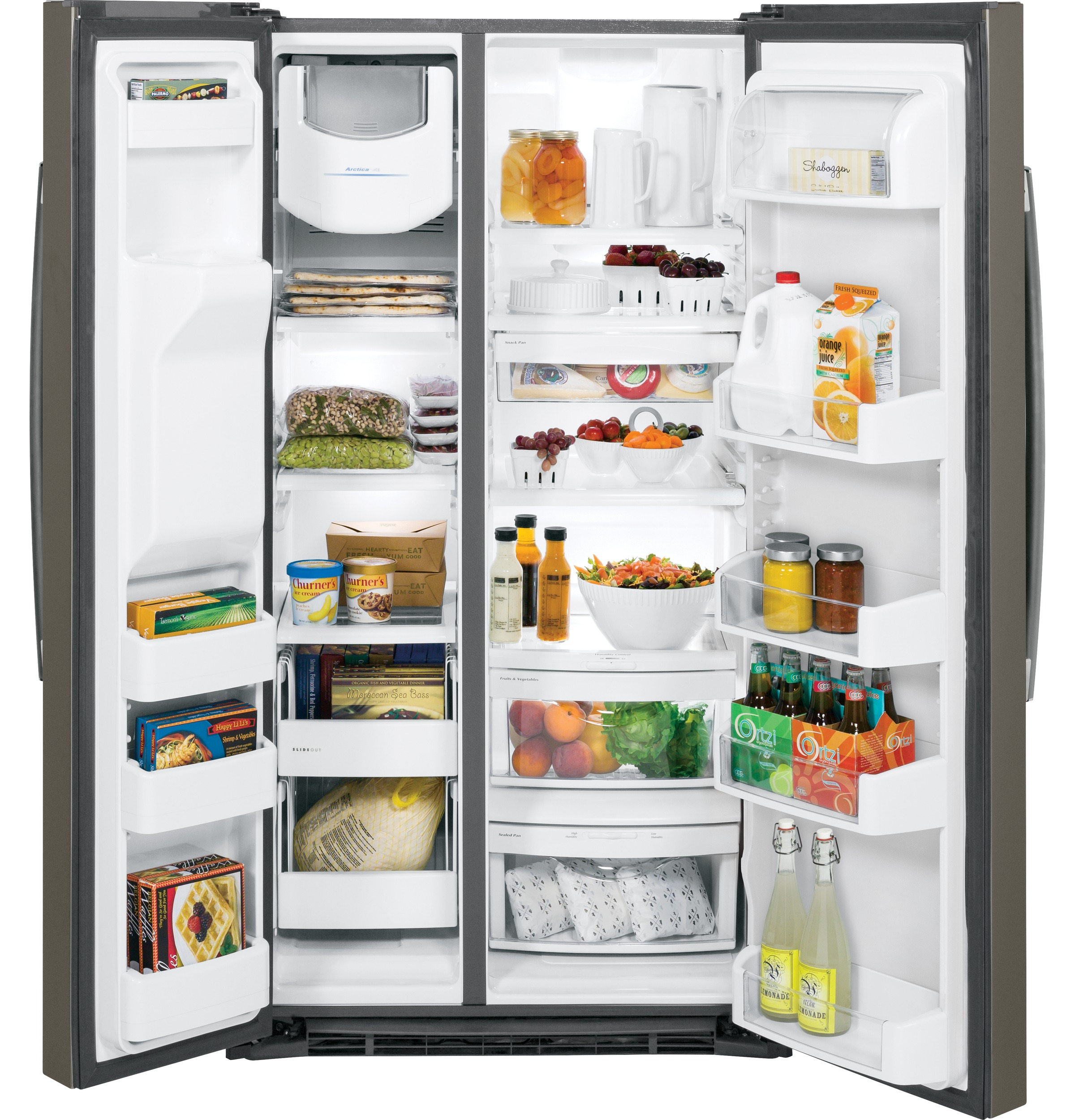 Ge Energy Star 253 Cu Ft Side By Refrigerator Gse25hmhes Sxs Wiring Diagram Product Image