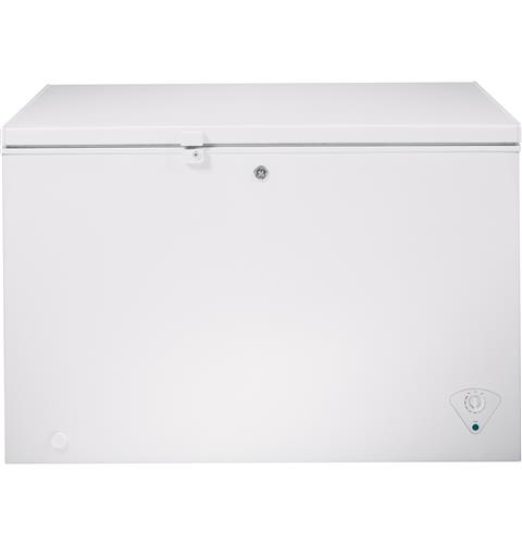 GE® ENERGY STAR® 10.6 Cu. Ft. Manual Defrost Chest Freezer– Model #: FCM11PHWW
