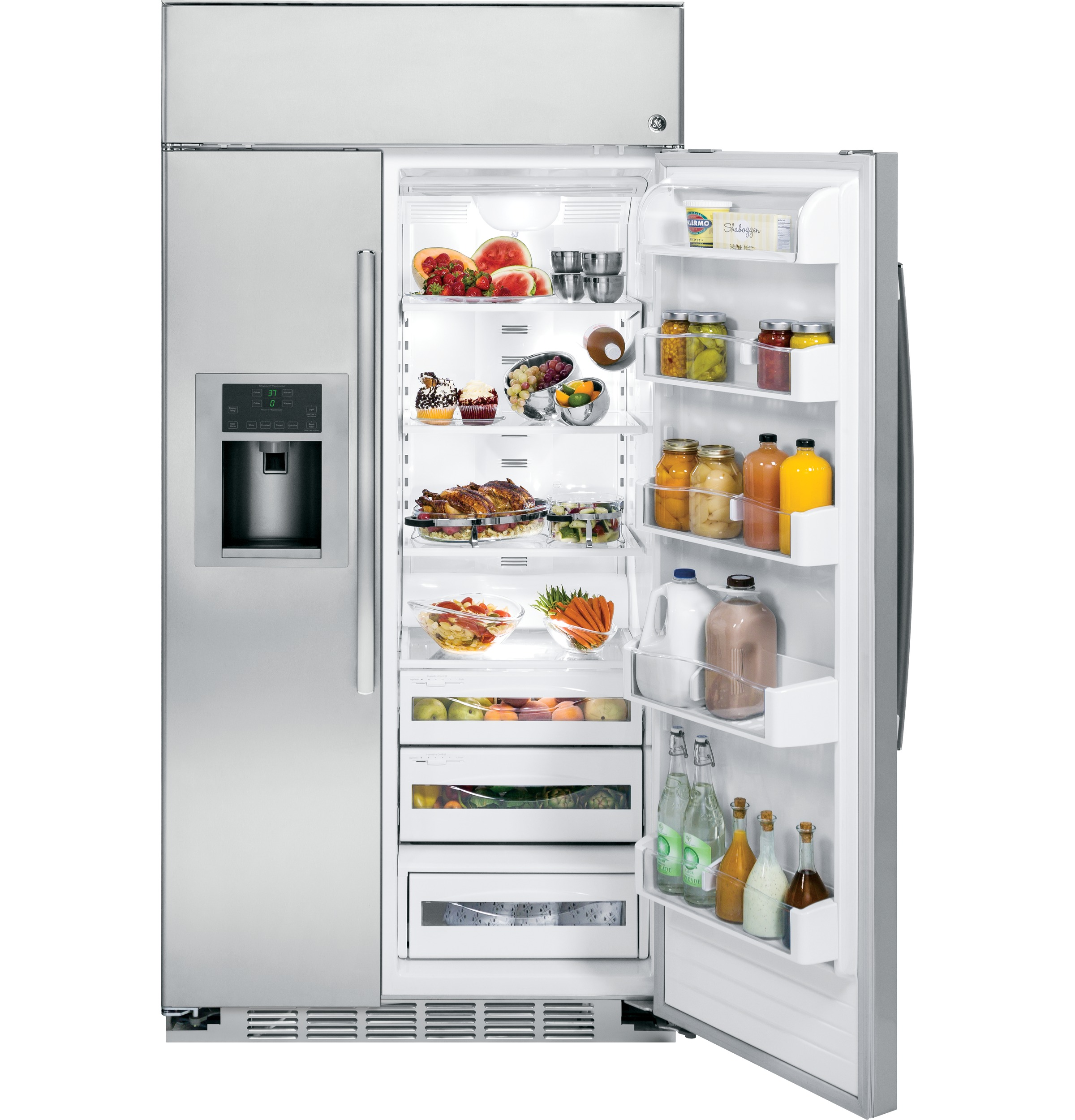 Ge Profile Series 42 Built In Stainless Side By Refrigerator Dryer Repair Diagram Additionally Haier Wine Cooler Parts Product Image