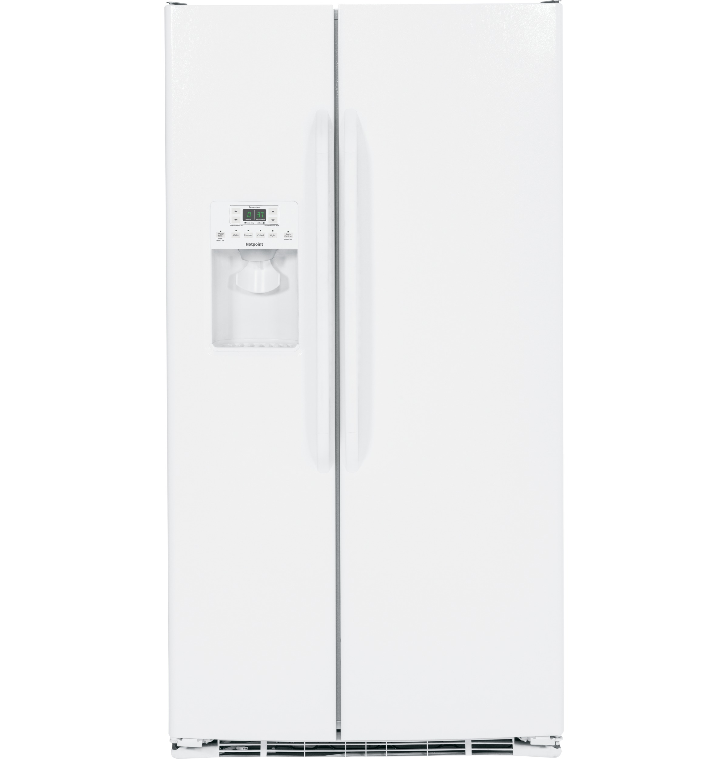 Hotpoint® 25.3 Cu. Ft. Side-by-Side Refrigerator | HSS25ATHWW | GE ...