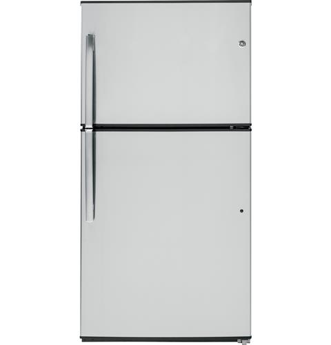 GE® ENERGY STAR® 21.2 Cu. Ft. Top-Freezer Refrigerator– Model #: GIE21GSHSS