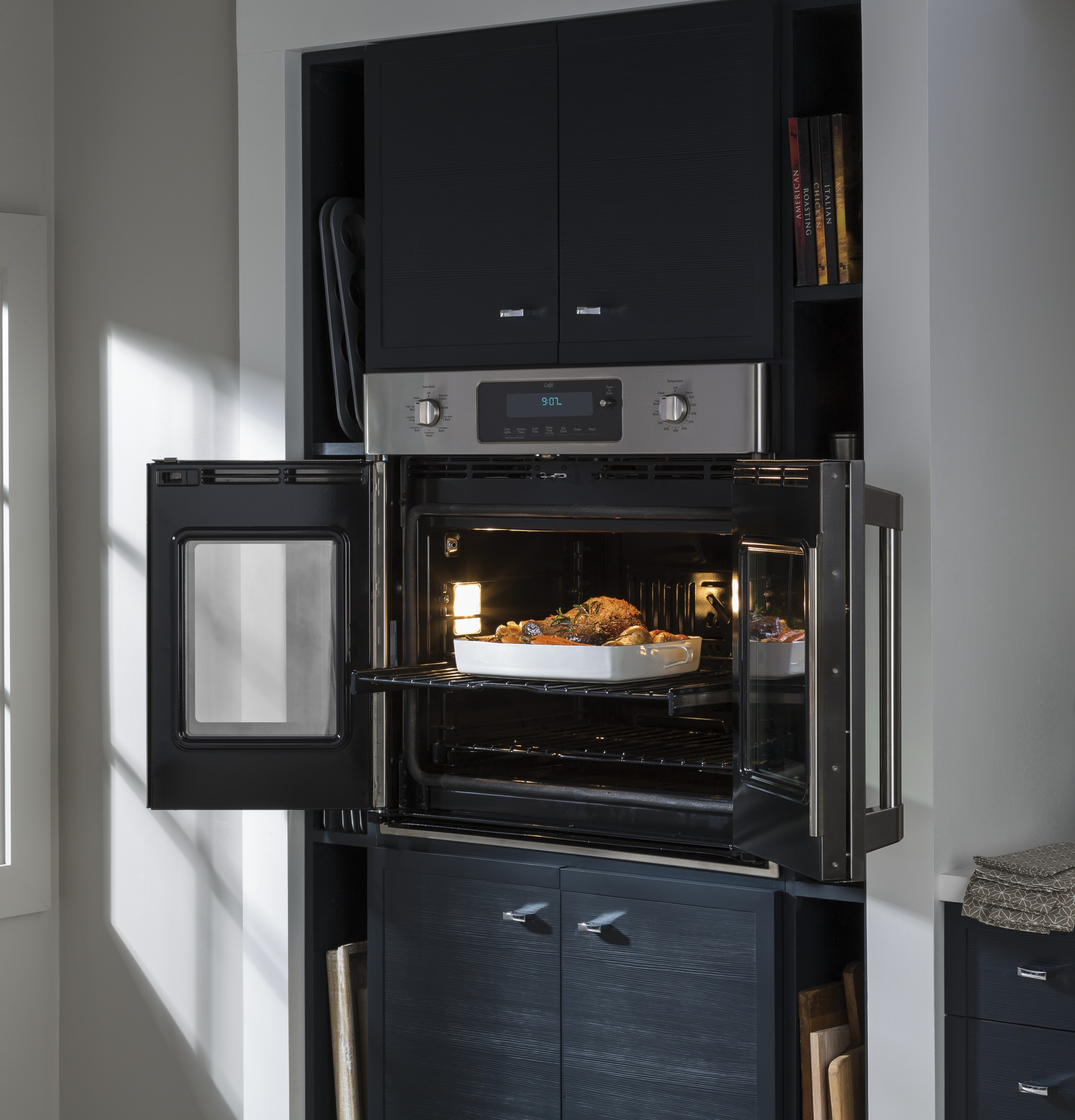 Ge Caf Series 30 Built In French Door Single Convection Wall Oven