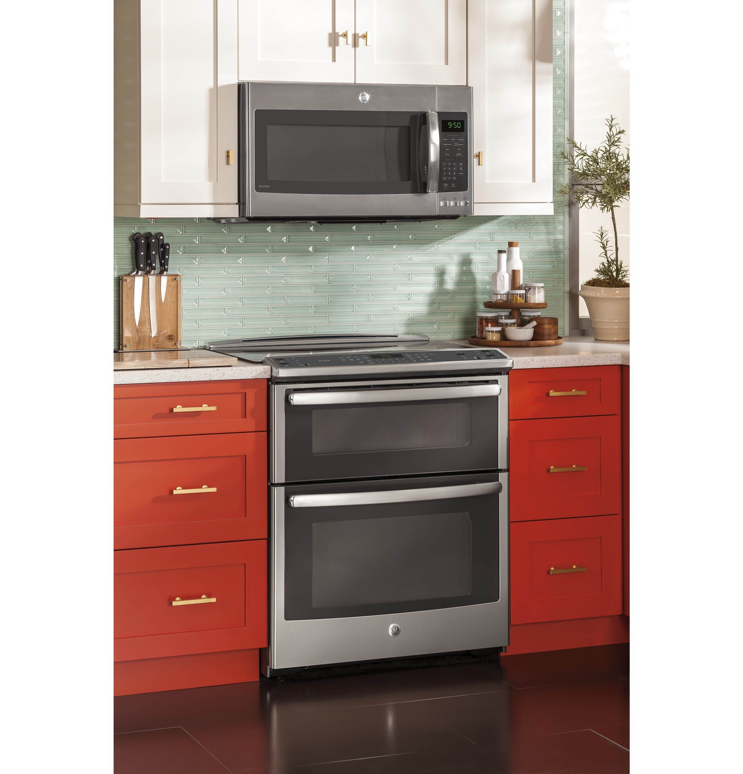 Side by side double oven gas stove -  Product Image