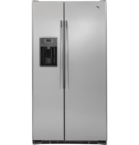 GE® 21.9 Cu. Ft. Counter-Depth Side-By-Side Refrigerator– Model #: GZS22DSJSS