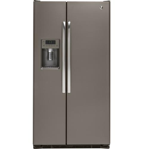GE® 21.9 Cu. Ft. Counter-Depth Side-By-Side Refrigerator– Model #: GZS22DMJES