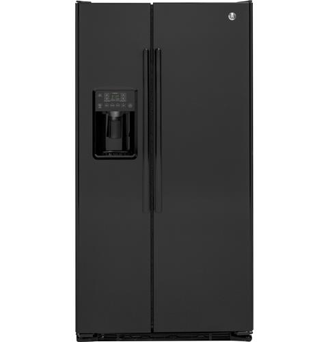 GE® 21.9 Cu. Ft. Counter-Depth Side-By-Side Refrigerator– Model #: GZS22DGJBB