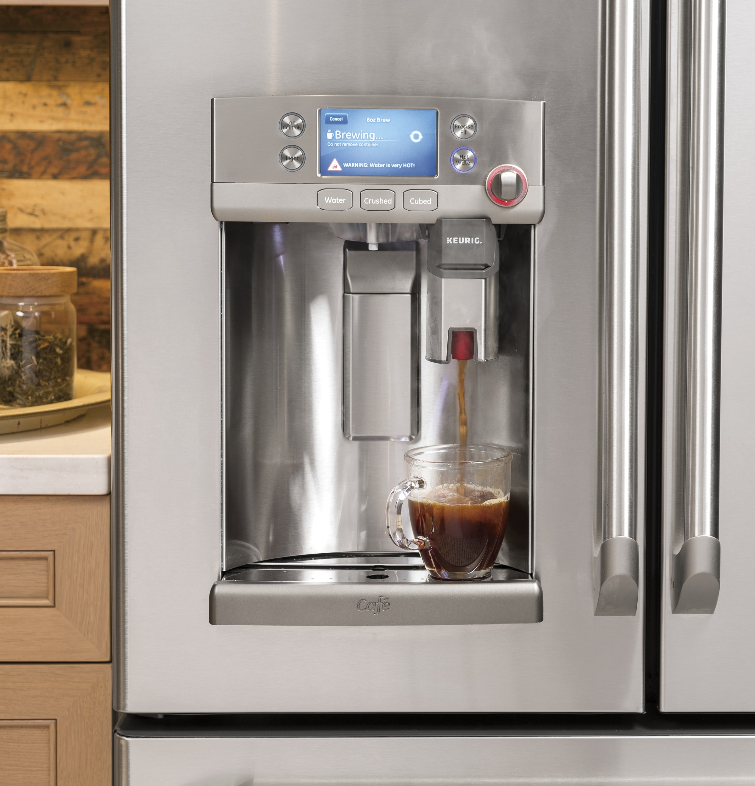 ge profile refrigerator counter depth french door with keurig