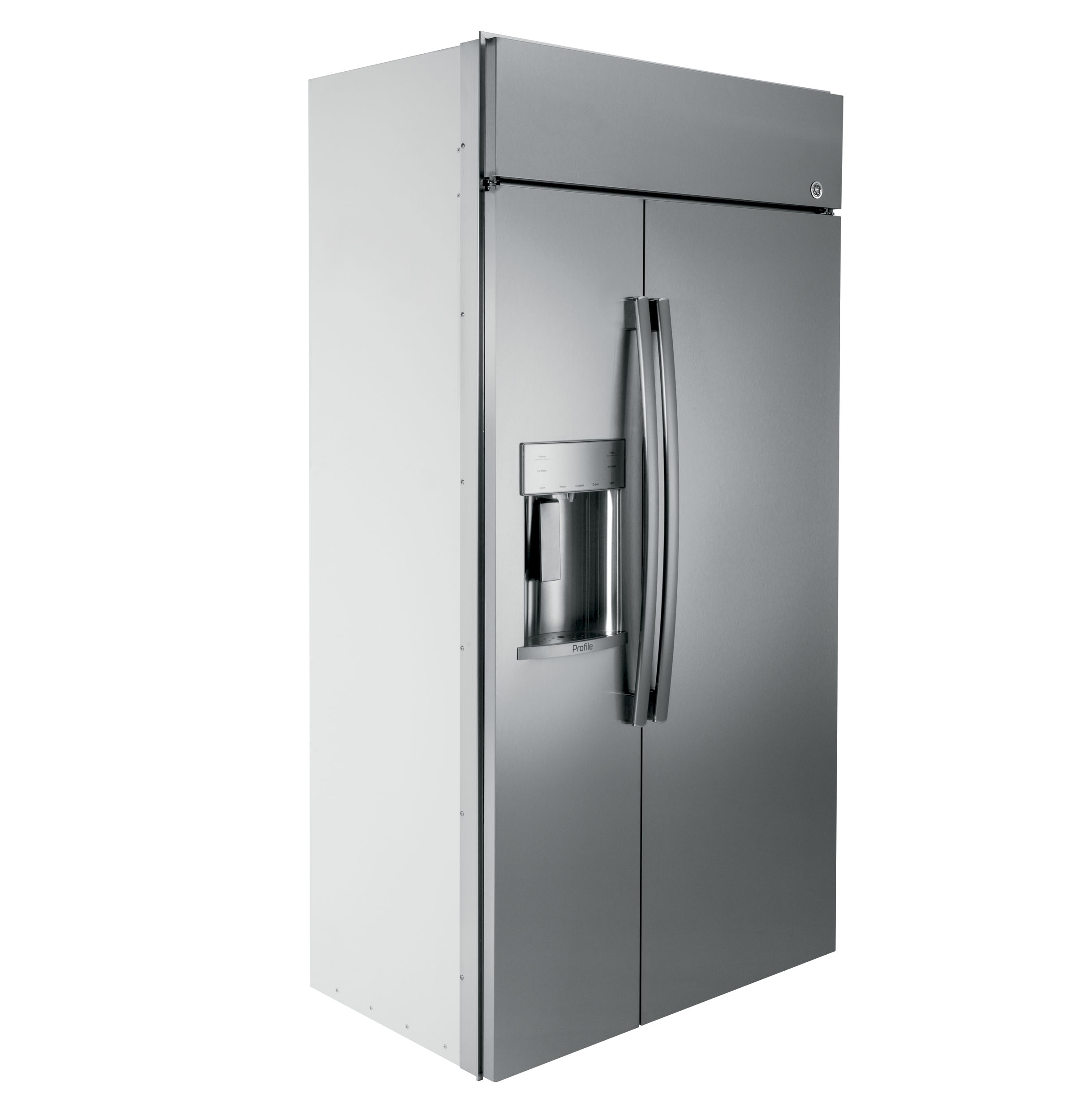 Ge 30 inch side by side white refrigerator -  Product Image Product Image