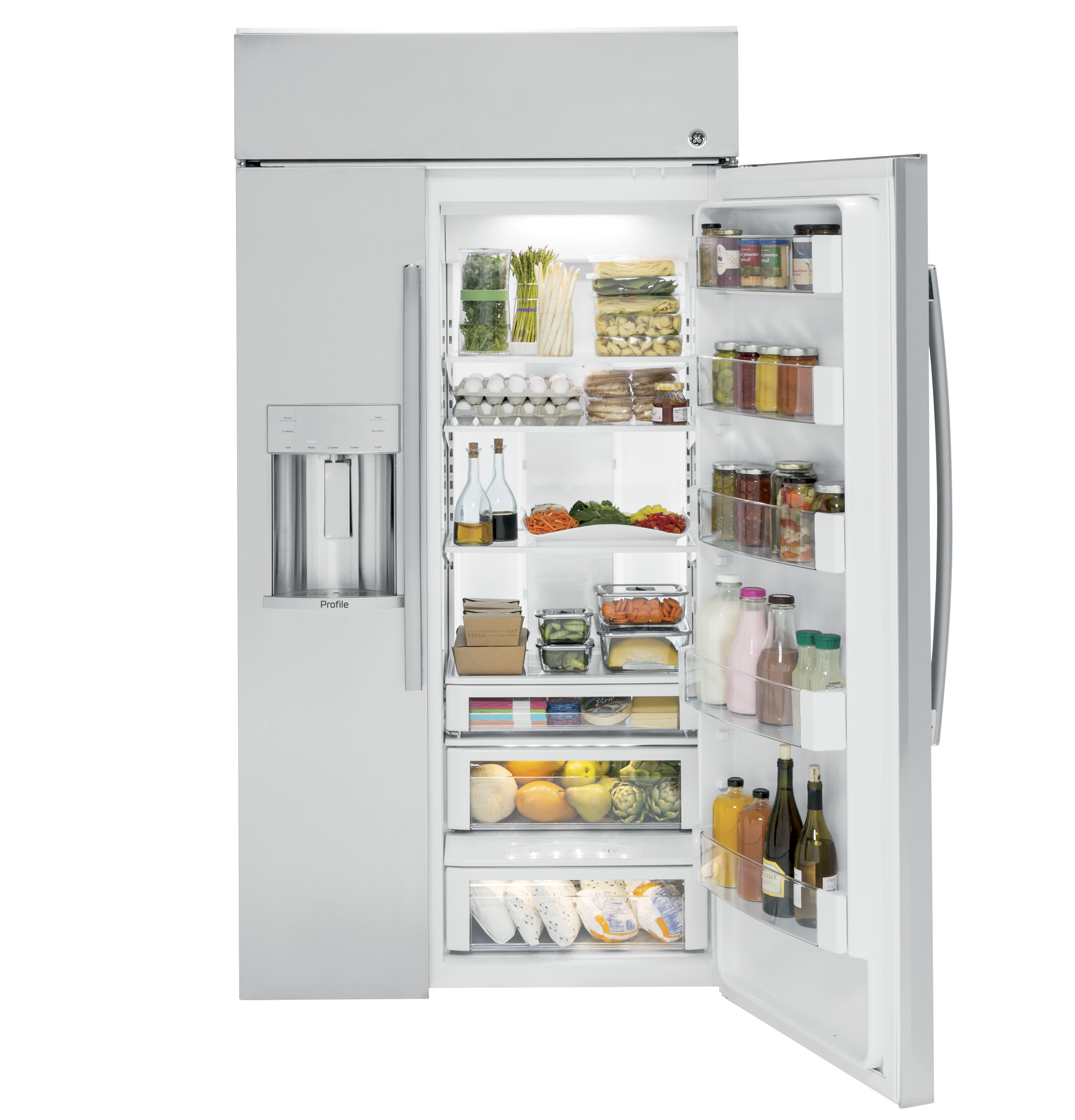 Ge Profile Series 48 Quot Built In Side By Side Refrigerator