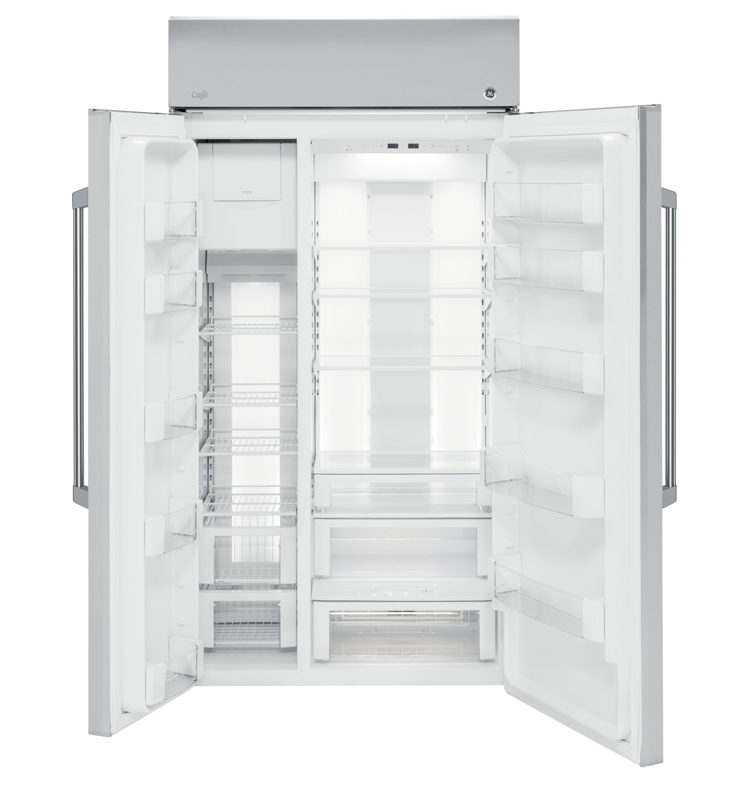 Ge Caf 233 Series 48 Quot Built In Side By Side Refrigerator