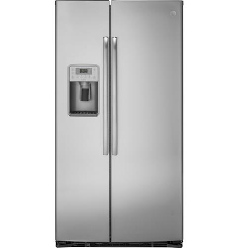 GE Profile™ Series 21.9 Cu. Ft. Counter-Depth Side-By-Side Refrigerator– Model #: PZS22MSKSS