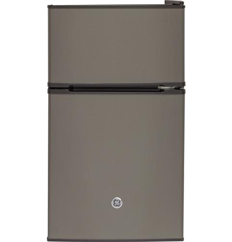 GE® Double-Door Compact Refrigerator– Model #: GDE03GMKED