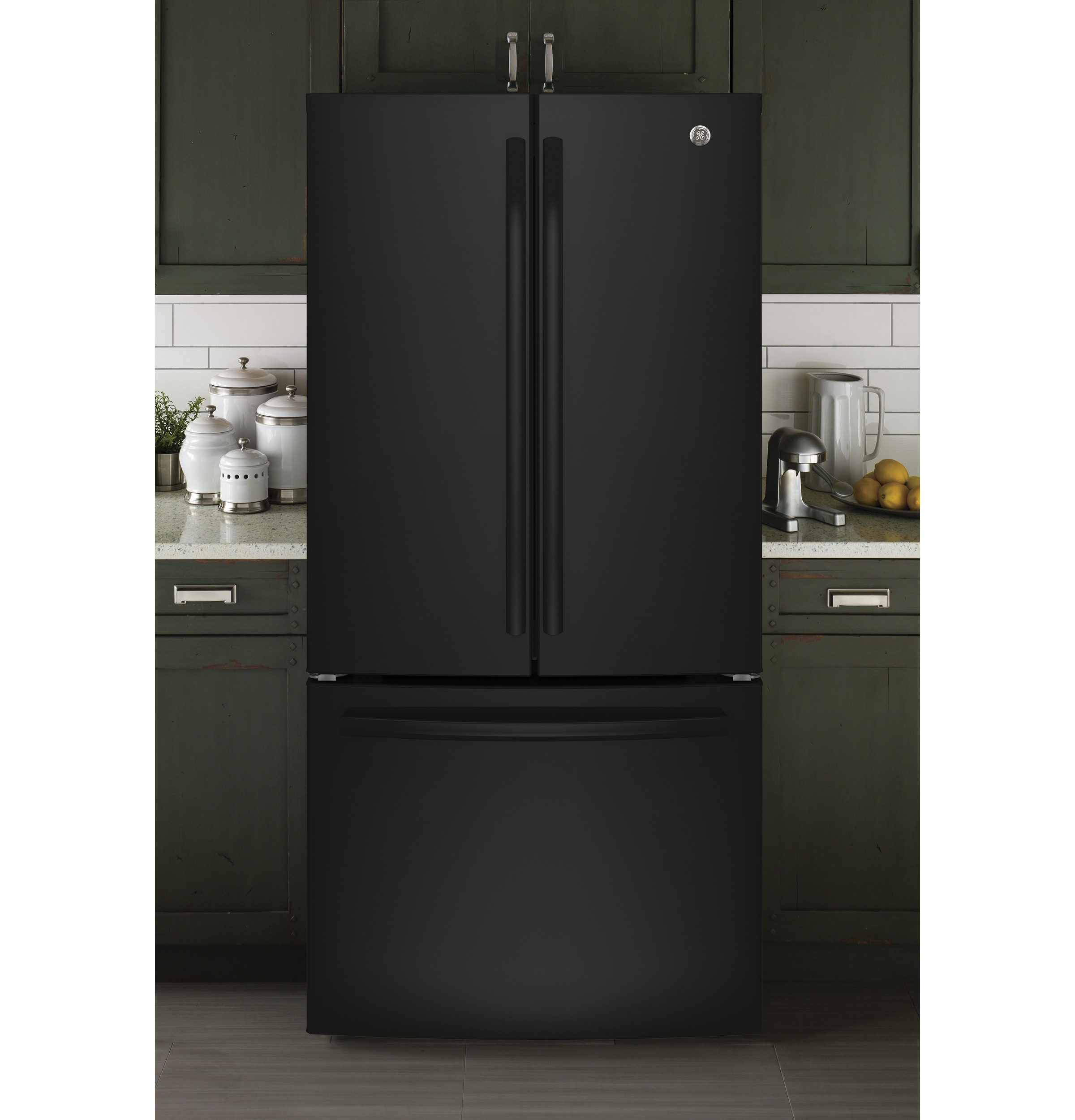Black refrigerators from ge appliances ge energy star 186 cu ft counter depth french door rubansaba