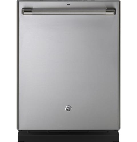 GE Café™ Series Stainless Interior Built-In Dishwasher with Hidden Controls– Model #: CDT865SSJSS