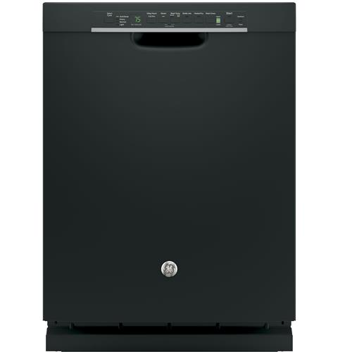 GE® Stainless Steel Interior Dishwasher with Front Controls– Model #: GDF650SGJBB