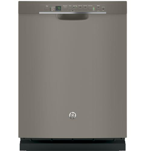 GE® Stainless Steel Interior Dishwasher with Front Controls– Model #: GDF650SMJES