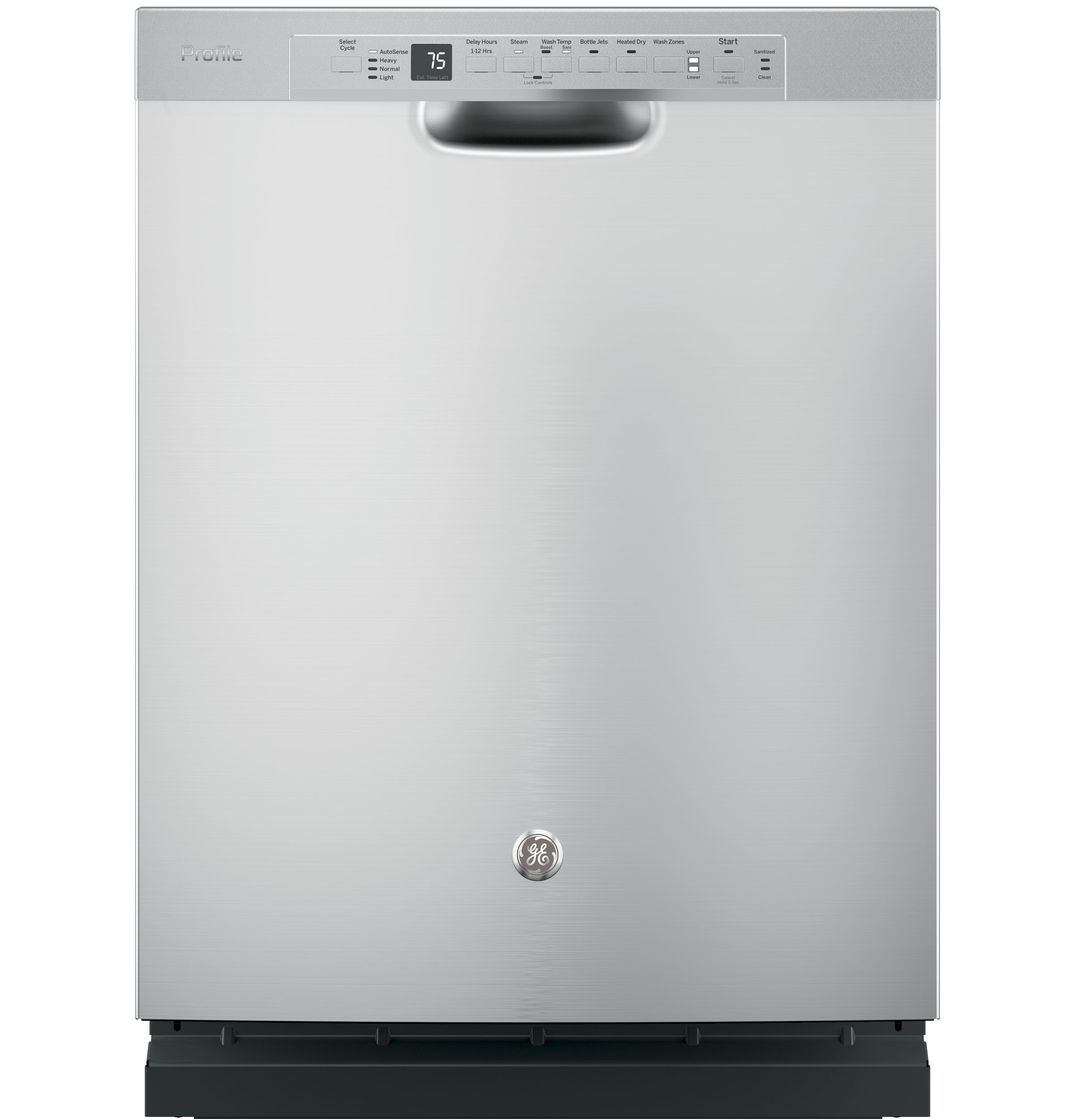 Ge profile stainless steel interior dishwasher with front - Stainless steel microwave interior ...