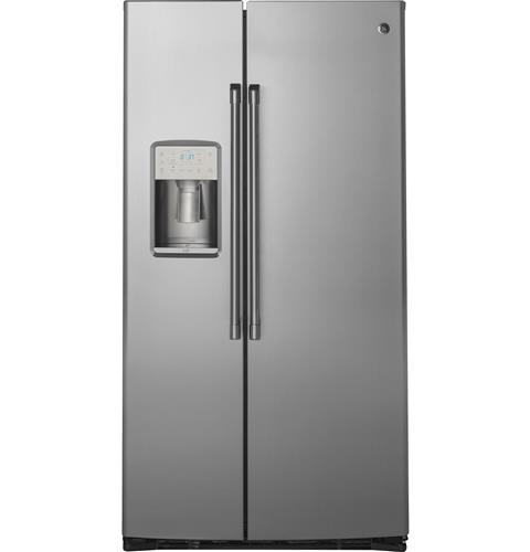 GE Café™ Series  21.9 Cu. Ft. Counter-Depth Side-By-Side Refrigerator– Model #: CZS22MSKSS