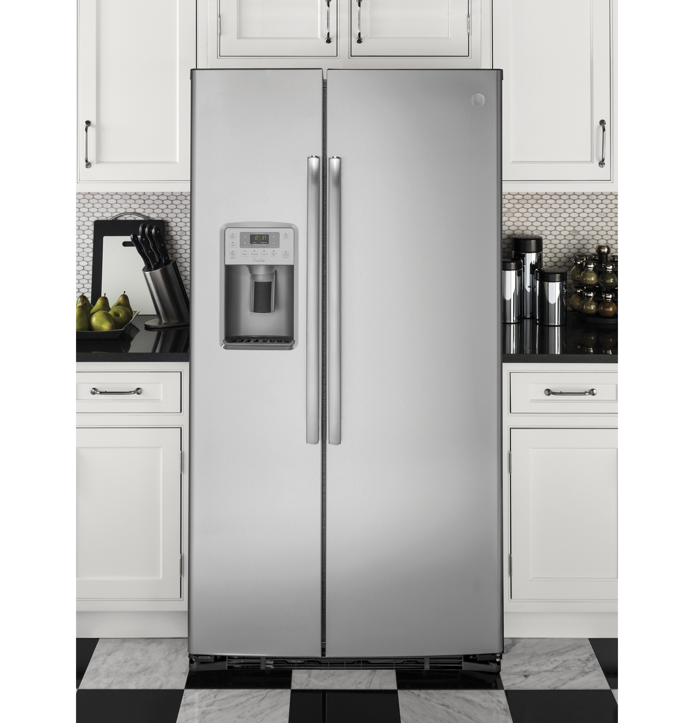 Ge 30 inch side by side white refrigerator - 1 Of 7