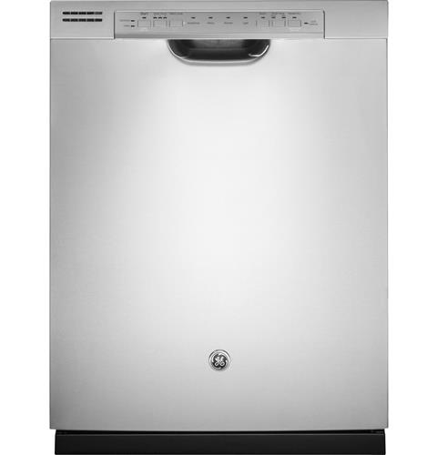 GE® Stainless Steel Interior Dishwasher with Front Controls– Model #: GDF570SSJSS