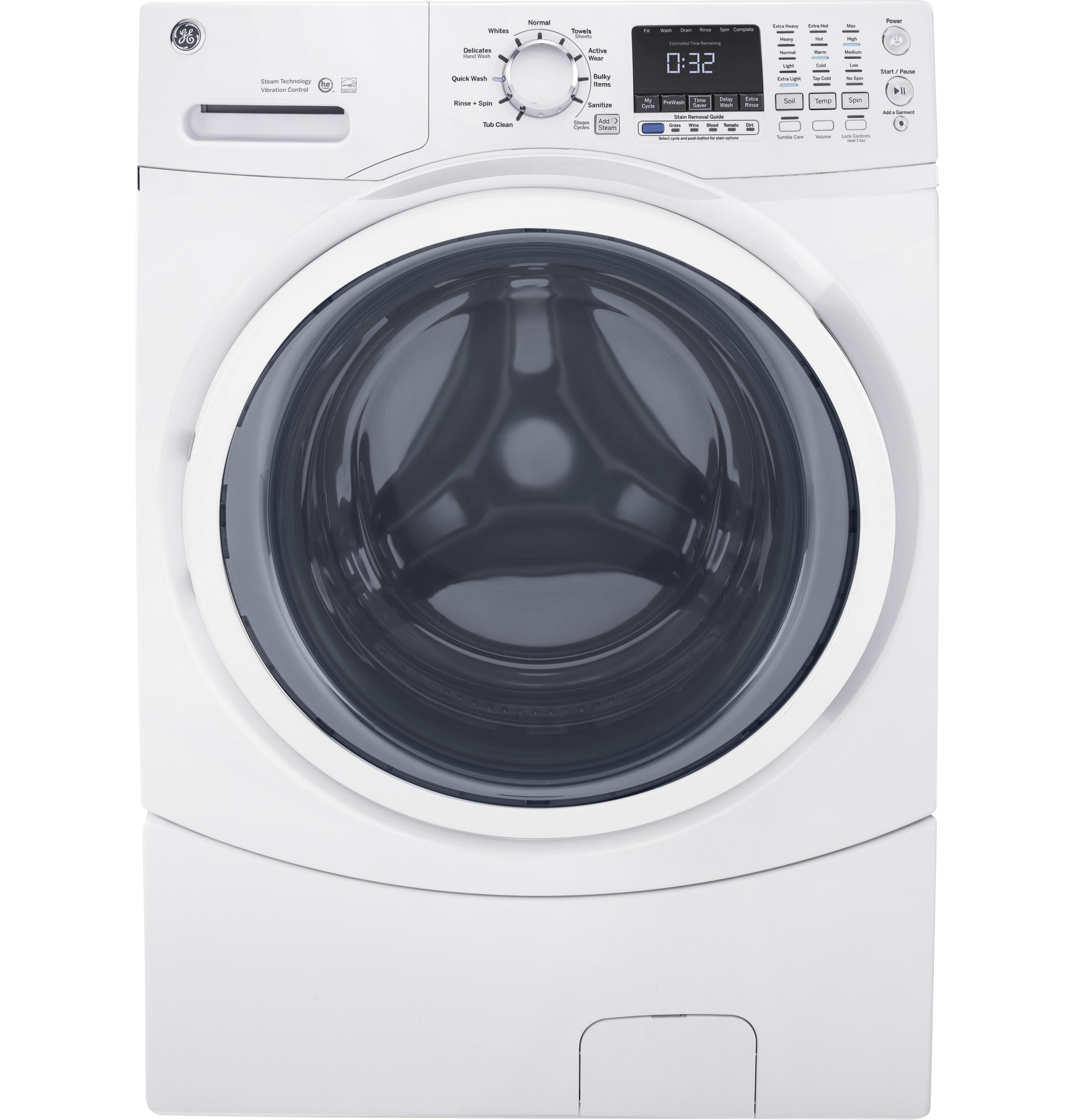 Ge energy star 4 5 doe cu ft capacity frontload washer for 5 star energy