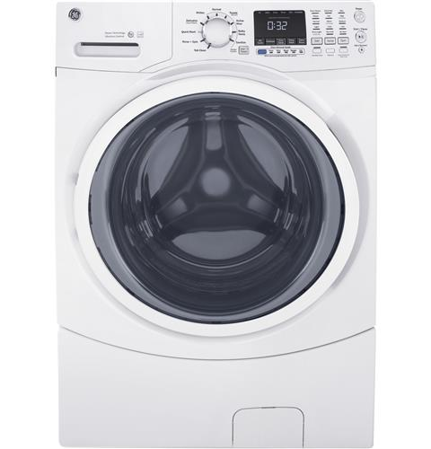 GE® 4.5 DOE cu. ft. Capacity Front Load ENERGY STAR® Washer with Steam– Model #: GFW450SSMWW
