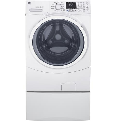 GE® ENERGY STAR® 4.5 DOE Cu. Ft. Capacity Frontload Washer with steam– Model #: GFW450SSMWW