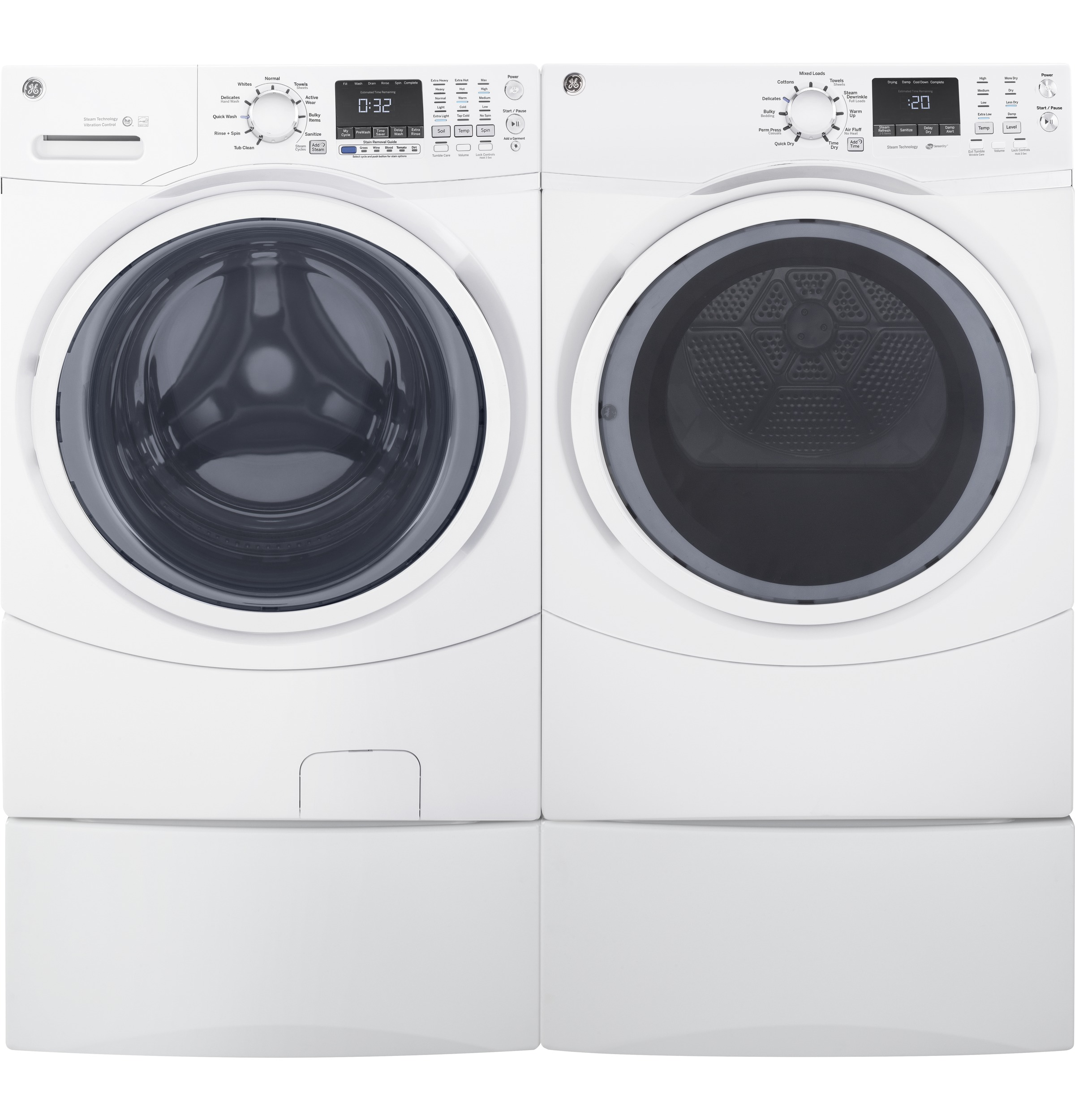 Gas Washers And Dryers Gear 75 Cu Ft Capacity Front Load Gas Dryer With Steam