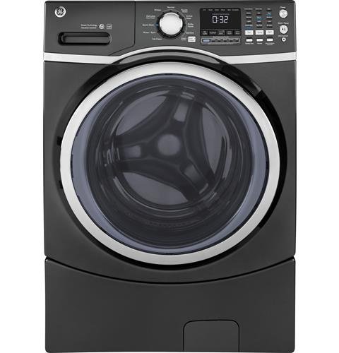 GE® 4.5 DOE cu. ft. Capacity Front Load ENERGY STAR® Washer with Steam– Model #: GFW450SPMDG